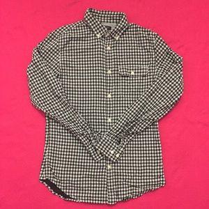 Modern Banana Republic Checkered Button-Up Shirt